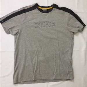 90s Vintage NIKE Spell Out Embroidered Tee Shirt